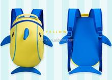 Nice design Kids backpack bag / children Waterproof backpack /cartoon dolphin backpack