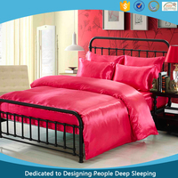 2015 hot luxury bedding set for hotel and home beautiful color 100% polyester satin