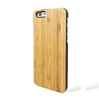 Laser Engraving Blank Custom Design Wholesale Cell Phone Case For Iphone 6 Wood Bamboo Case