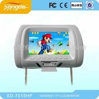 Advertising Body Sensor Sd Display 7`` Widescreen Car Headrest Monitor