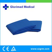 Disposable Blue Medical Drapes with Single PE Coated Viscose
