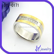 2015 Bulk Sale Large Size Costom Stainless Steel Rings Wholesale Jewelry
