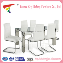 China wholesale high gloss european steel dining table