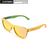 Newest Skateboard Wood Sunglasses Fashion Eyewear Glasses STK001