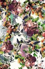 2015 Autumn new deisgn printed woven silk fabric for sale