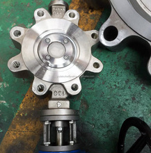 """4"""" industrial lug type stainless steel butterfly valve for acid"""