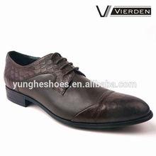 Zapatos de vestir fabricados con cuero genuino para hombre nuevo estilo