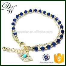 2015 double chains african bracelet, zircon bracelet