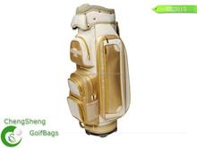 Fashion genuine leather golf bag