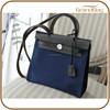 Trend Vintage Genuine Leather Canvas Women Business Bag Lock Bueno Sling Ladies Handbag