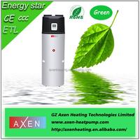 Heat pump air water used hot water heater