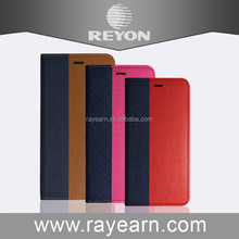 Reyon Fabric Textile PU Leather Case For iPhone 6 Cover Magnetic Phone Case Flip Leather Case For iPhone 6