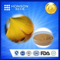 hot sale Natural Ginkgo Biloba Leaf Extract for health food / halal cosmetic / medicine supplier