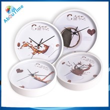 New design coffee cup Wooden wall clock for home decoration!
