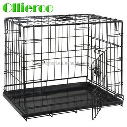 High Quality 2 Doors Portable Dog House Cage with Two Arcuate Handles