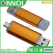 Customized Personalized otg usb flash drive /usb pen drive bulk cheap metal 8gb 16gb 32gb 64gb 128gb
