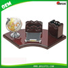 Drawer Design Wooden Desk Set with Globe for Office Gifts Souvenir