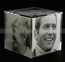 Cube Acrylic Picture Frame Display,Six Sides Acrylic Cube Photo Frame