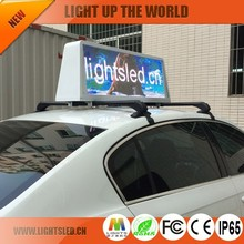2015 hot product led taxi roof top signs for advertising
