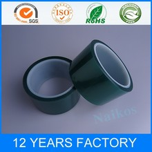 1000mm width Green polyester silicone adhesive tape can be slit to you width for free