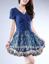 2012 new style and beautiful girl short dresses