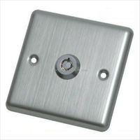 Stainless Steel Face Plate Switch button Push Button with Key