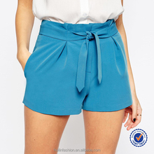 shorts with belted waist detail blue young girl's shorts nice shorts