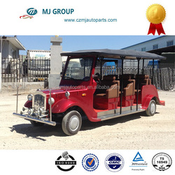 Electric golf car , 8 seats (6+2) with a fixed seat facing backwards