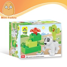 Educational children large ABS plastic 3D cube 6pcs toy building blocks