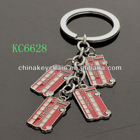 Travel bus shaped London tourist souvenir mini red charms keychain