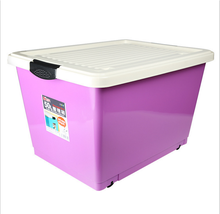 high quality plastic waterproof storage box with wheels lid container trade assurance