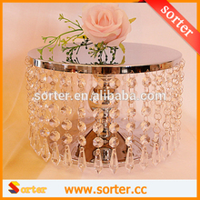 Sparkling Decorative Crystal Beaded Cake Stand