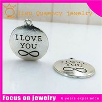 """""""I Have You In My Heart""""Floating Charms Locket Magnetic Pendant Necklace Charms Floating Locket Plate"""