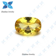man-made material synthetic oval shape light - citrine nano beads