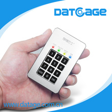Datage professional data security SSD mSATA HDD storage enclosure