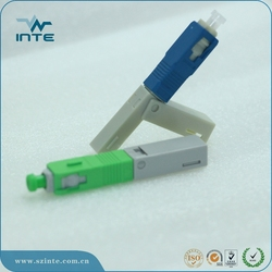 quick SC/APC Optical Fiber Fast Connectors,FTTH drop cable SC fiber optic fast connector