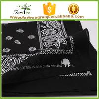 100% cotton cheap headwear bandanas for sale