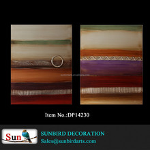 100% Hand painted silver background with fashion color abstract painting