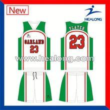 Healong Customized High Quality Basketball Uniform Manufacturer
