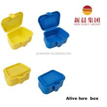 Plastic fishing worm bait small box for fishing