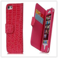 Hot Selling Luxury Crocodile Grain Wallet Style Stand Cell Phone Case For iPhone 5 5S From Alibaba China