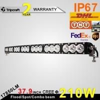 12v car curve led light bar 210w amber offroad light bar 38inch led light bar