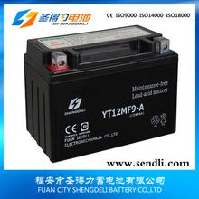 12V 9Ah motorcycle battery race vehicle battery for panama market