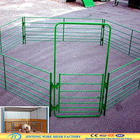 Green color coated metal wholesale horse fencing
