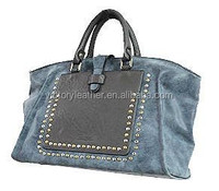 FASHIONALBE HOT SELL GOOD QUALITY SMART STYLE PU HANDBAG WITH STUDS