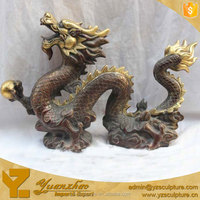 Indoor chinese large bronze dragon for decoration