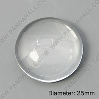 Dome Clear Glass Cabochons 25mm Half Round 200Pc/bag(GGLA-G008)