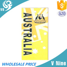 custom logo printed 100% cotton velour woven Australia brand towel