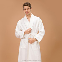 clothing in turkey white shawl collar waffle diamond bathrobe sex doll for man/bridal robe