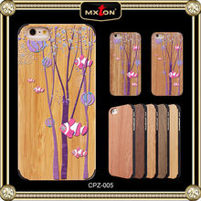 High Quality Set Drill Cherry Wood Case /Cover For Iphone5